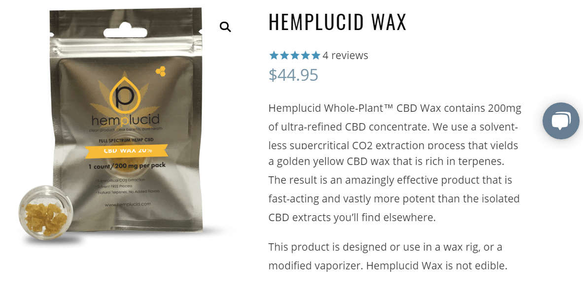 Hemplucid Discount Coupon Code-Wax