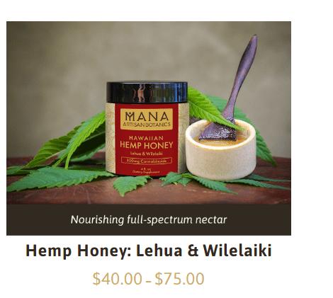 mana artisan botanics Coupon Codes-Hemp Honey
