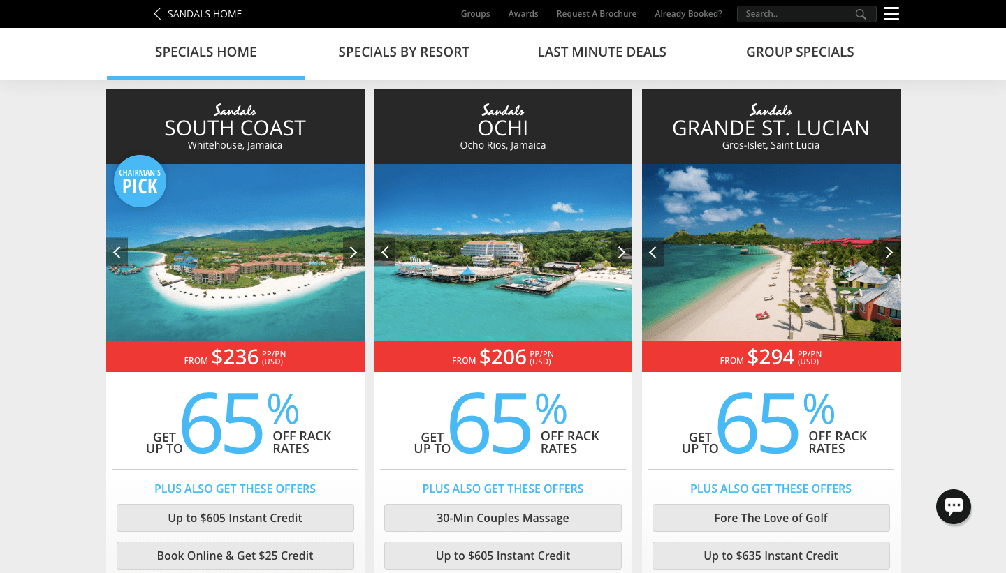 Sandals Resorts Reviews 2021: ALL EXCLUSIVE DEALS!