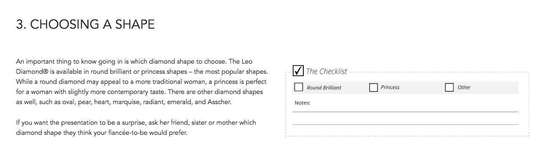 Leo - Diamonds - Review -choosing -a - shape