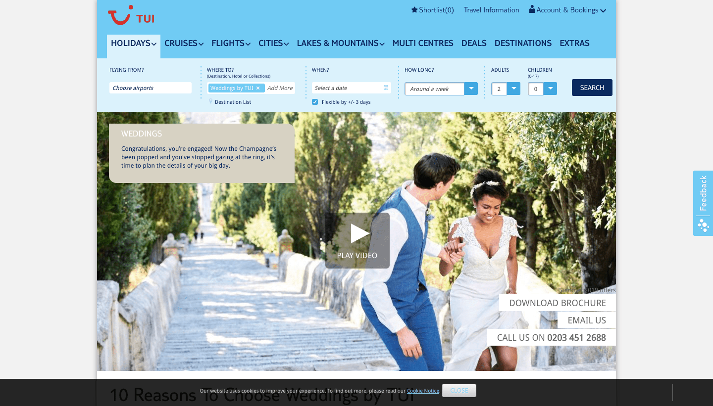 Thomson Weddings Review: ALL MEALS INCLUSIVE!