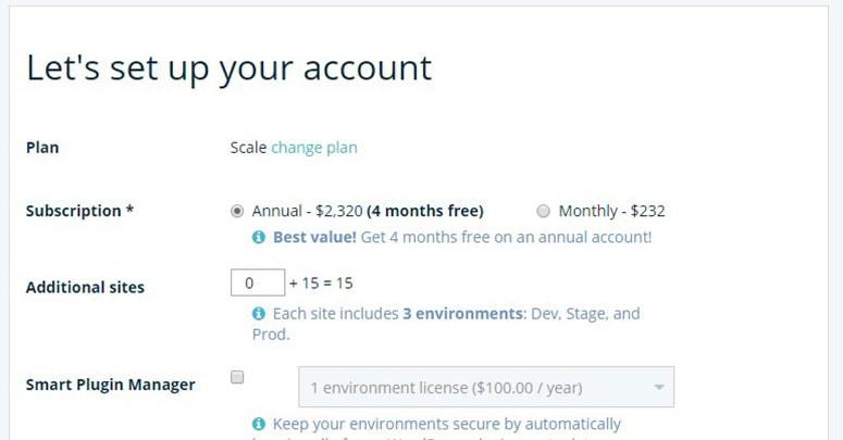 Managed WordPress Hostings Account setup