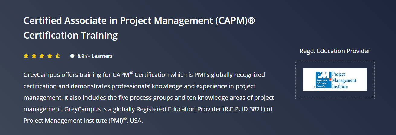 Grey Campus Coupon Codes- Certificate Associate in Project Management Professional