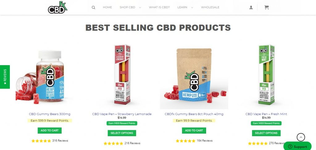 CBDfx reviews with coupons