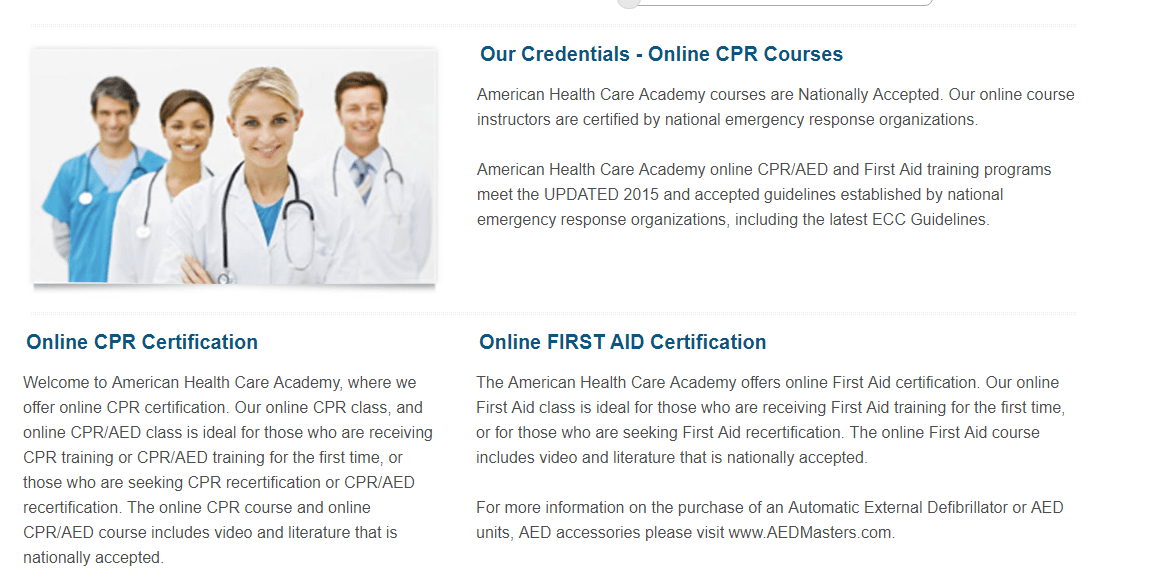 CPR AED Course Review Certification Course