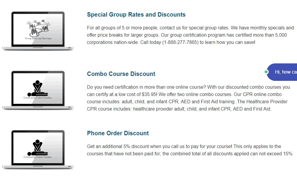 CPR AED Course discounts