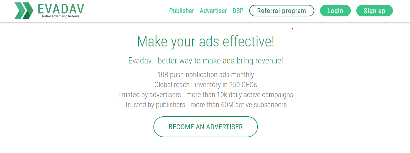 EvaDav for advertisers
