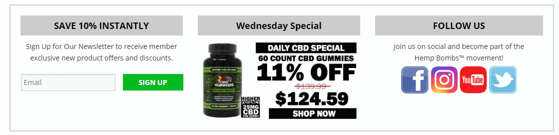 HempBombs discount Coupon Codes