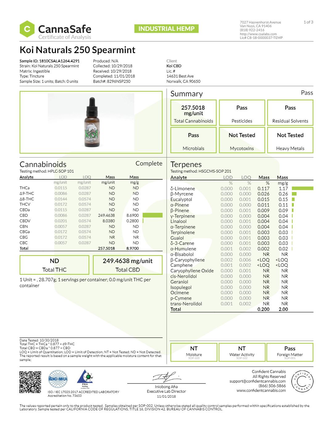 KOi CBD guarantee
