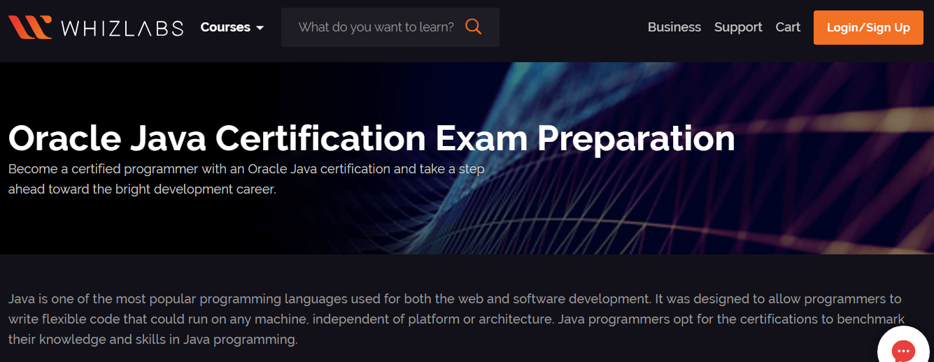 Java certification coupon for Whizlabss