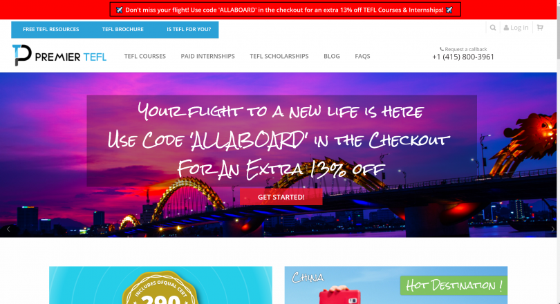 PremierTEFL online coupons