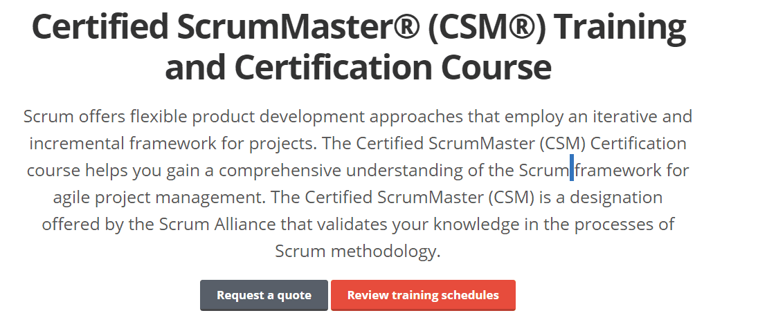 Grey Campus discount Codes- Certified Scrummaster