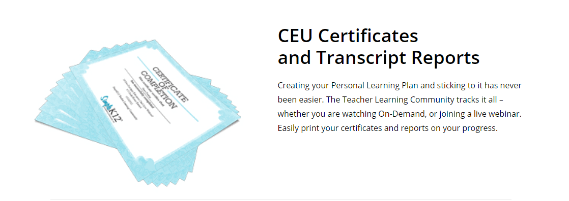 SimpleK12 Certificates