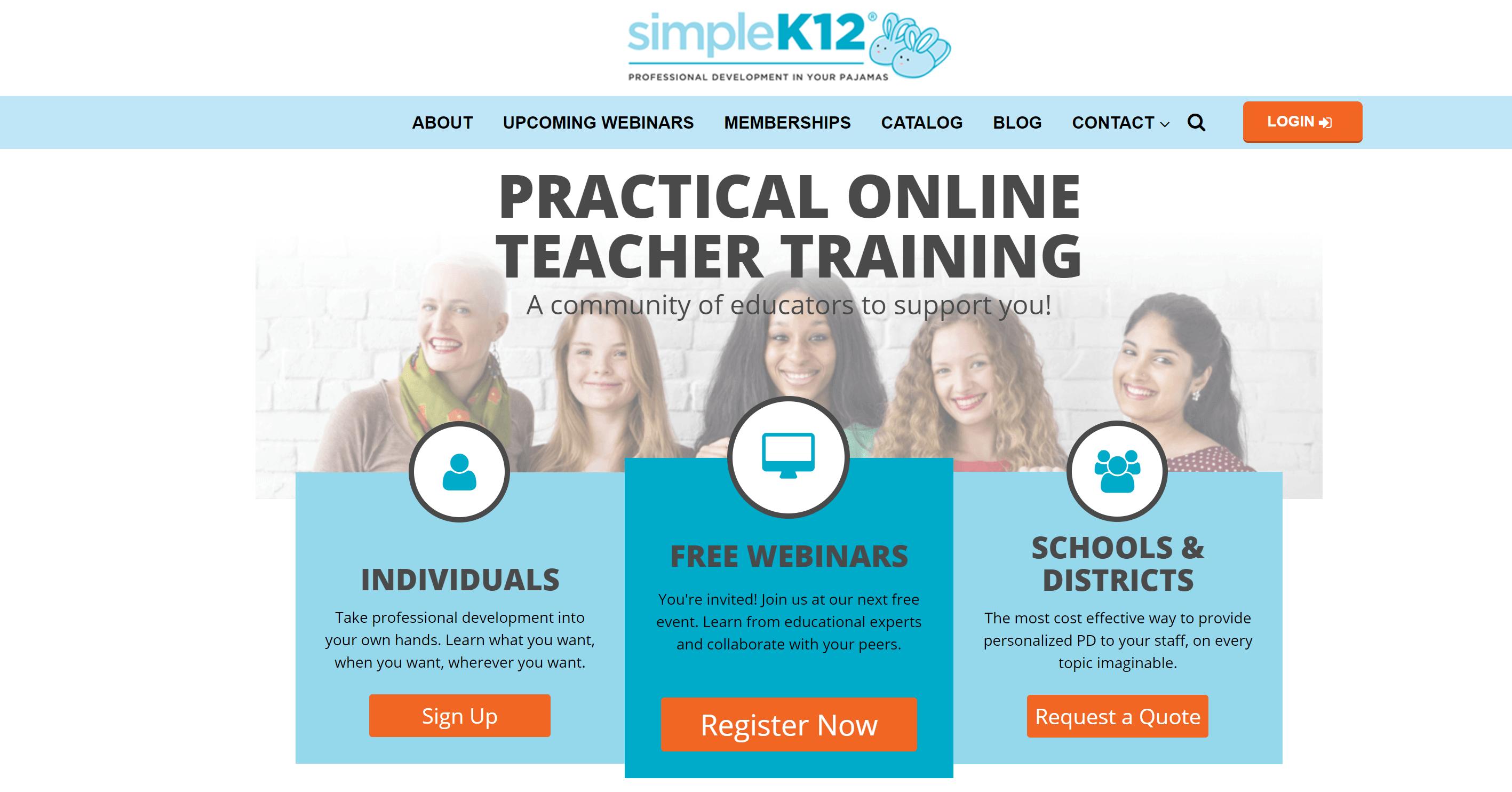 SimpleK12 - teacher training websites