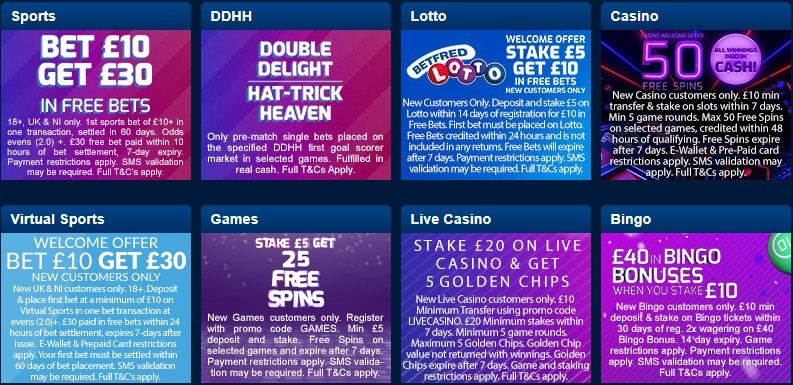 Betfred Promo Codes