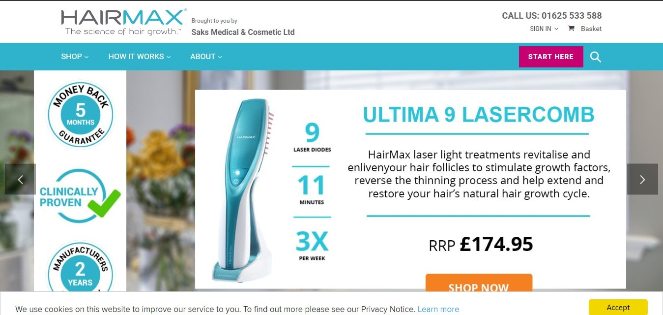 HairMax Discount Coupons
