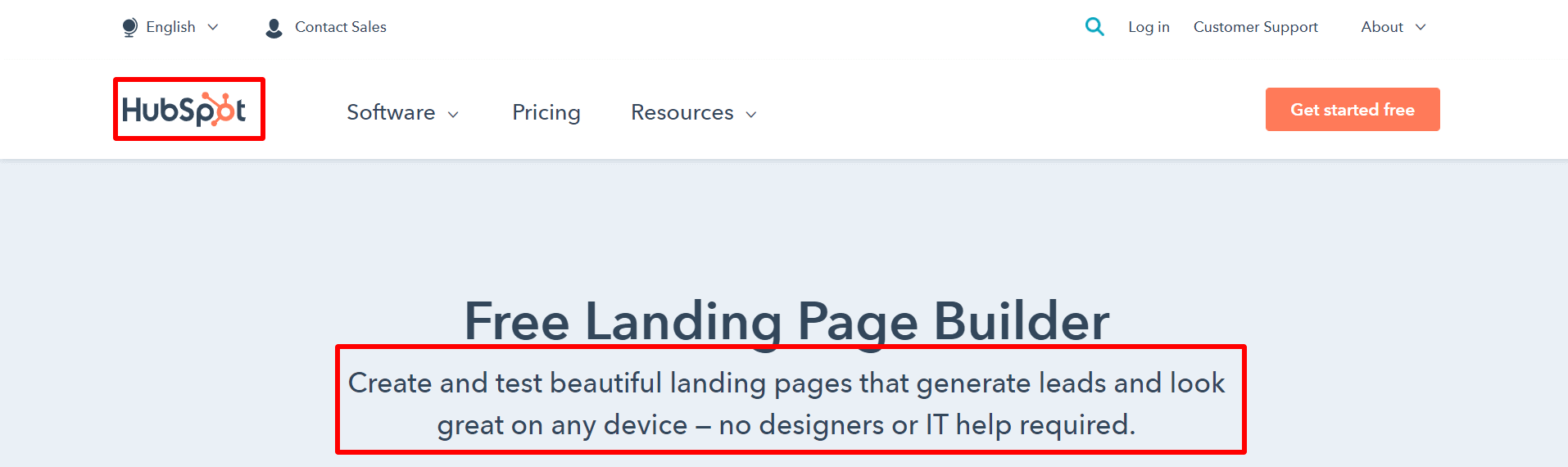 Free-Landing-Page-Builder-HubSpot