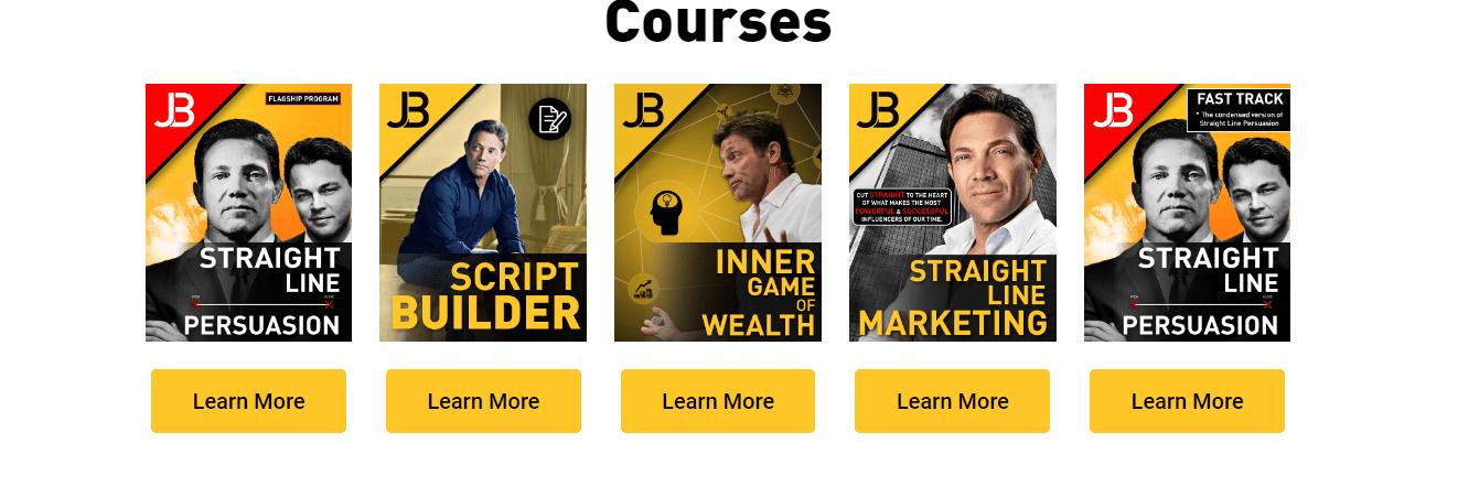 Jordan Belfort Courses Review- Courses