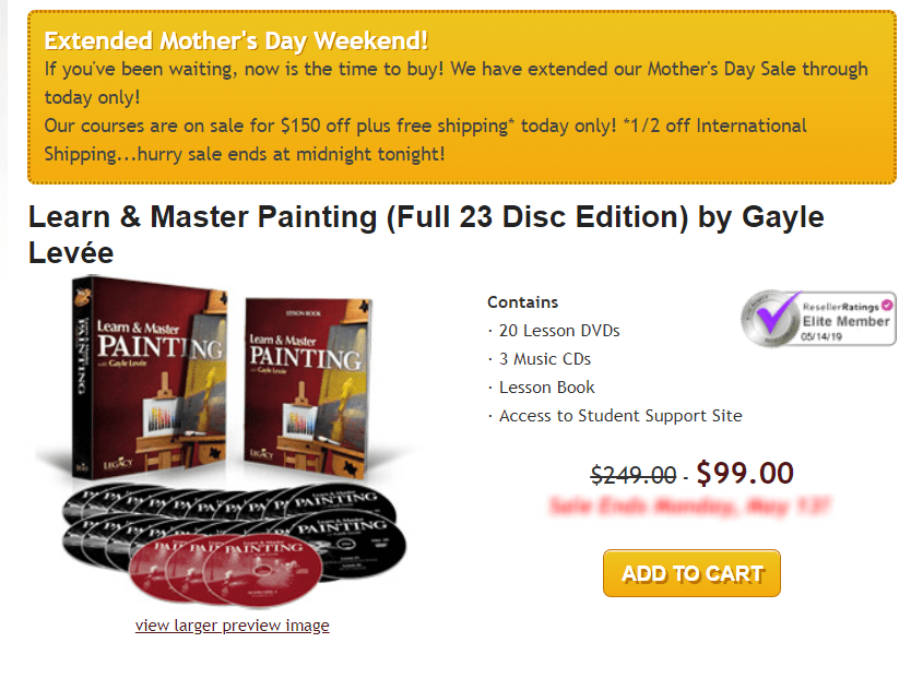 Learn & Master Courses Coupon Codes- Master Painting Pricing