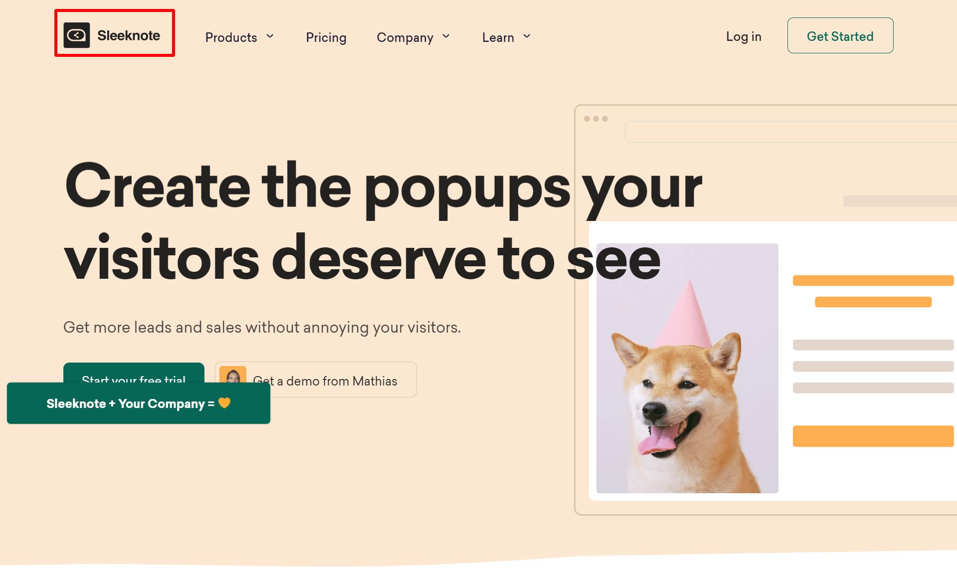 Sleeknote-The-Internet-s-Favorite-Popup-Builder