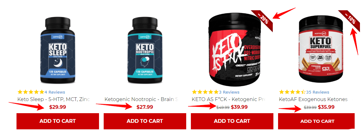 KETOAF coupon codes