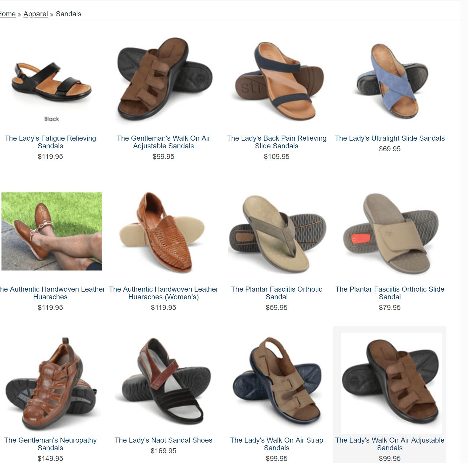 Hammacher Schlemer sandals