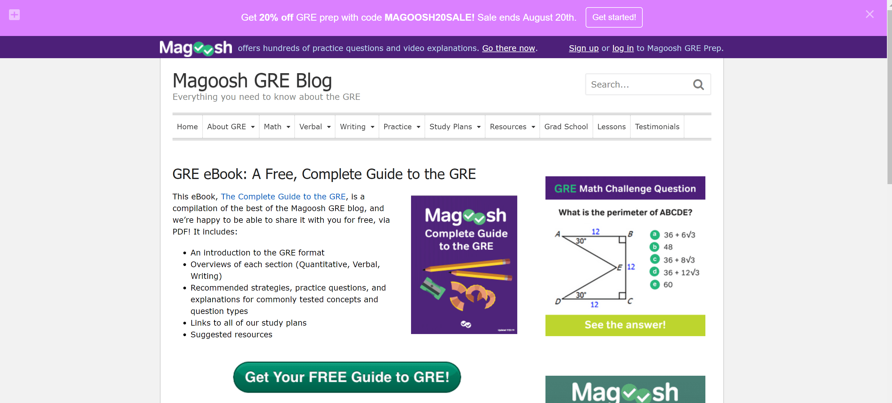Magoosh Gre Full Length Test