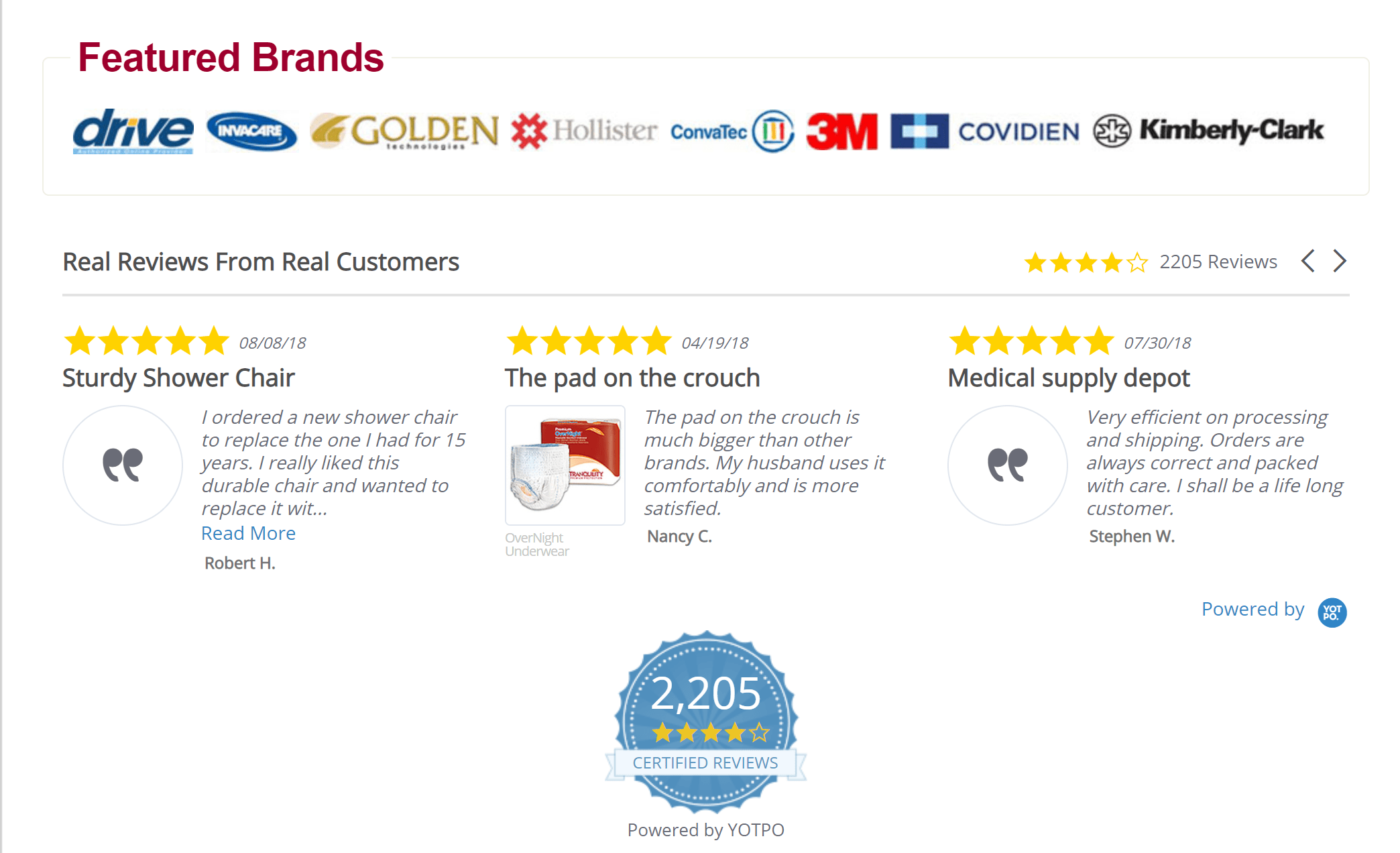 Medical depot supply customer reviews