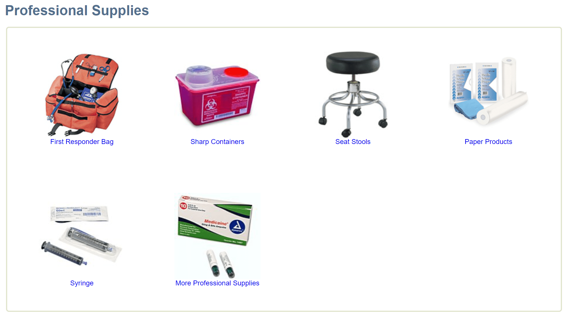 Medical supply depot supplies