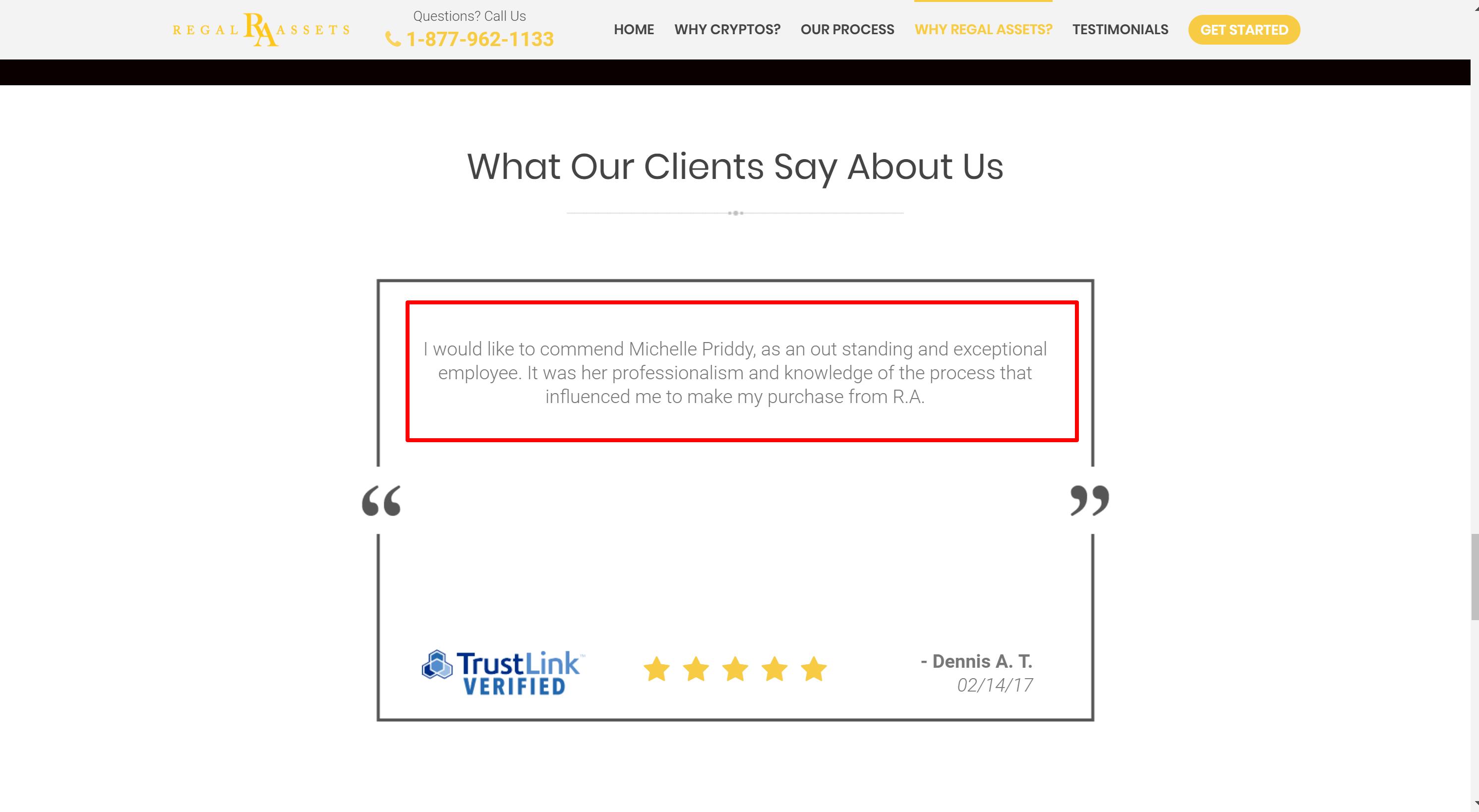 Regal assets customer reviews