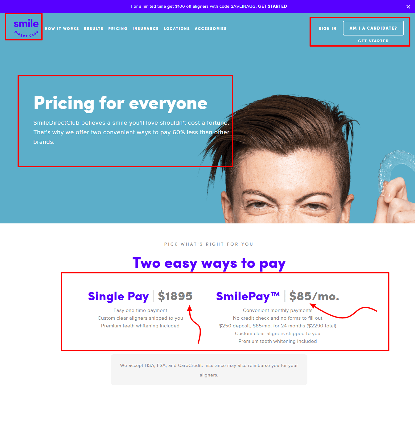 Smile Direct Club Review - Pricing Policy