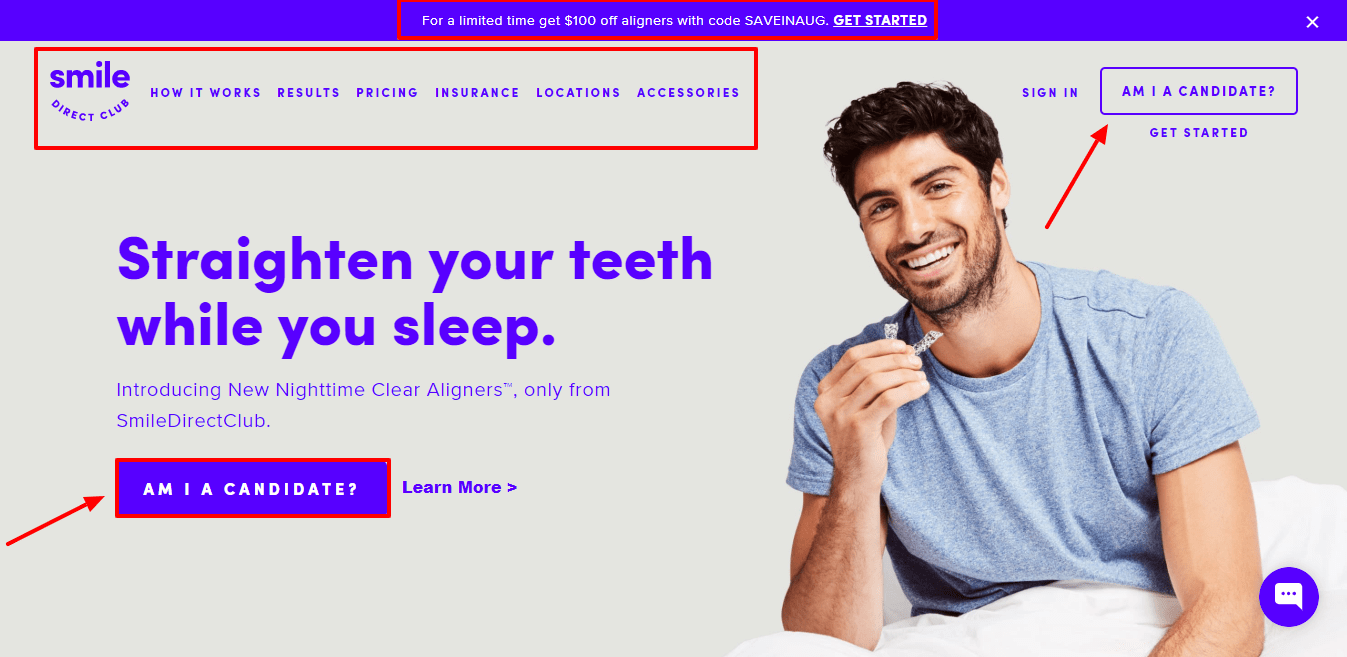 Smile Direct Club Review - Home Page