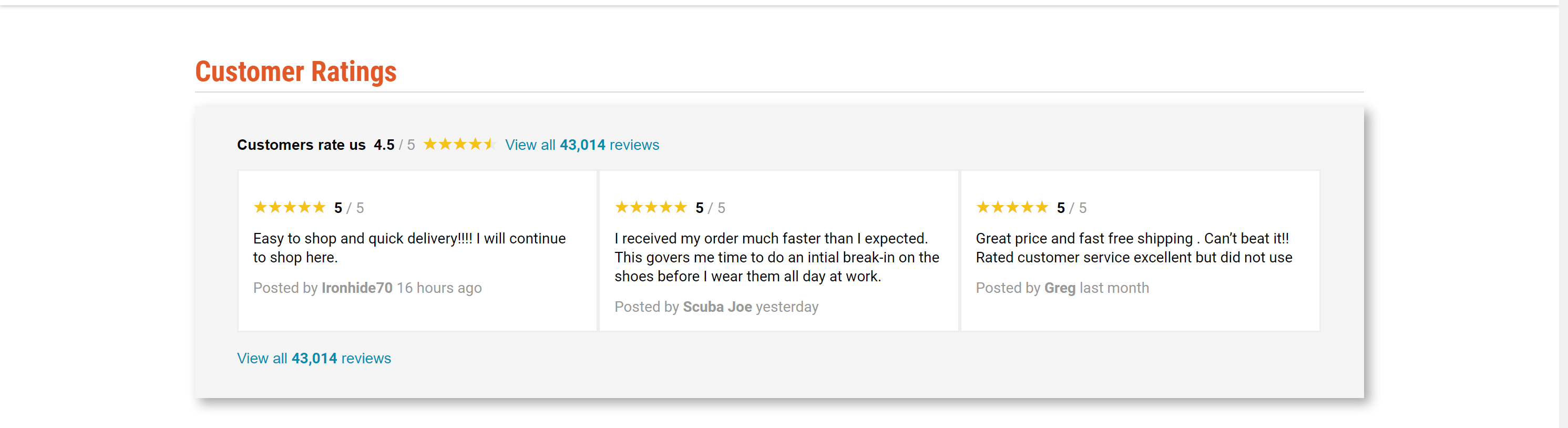 Sportsman's guide customer review