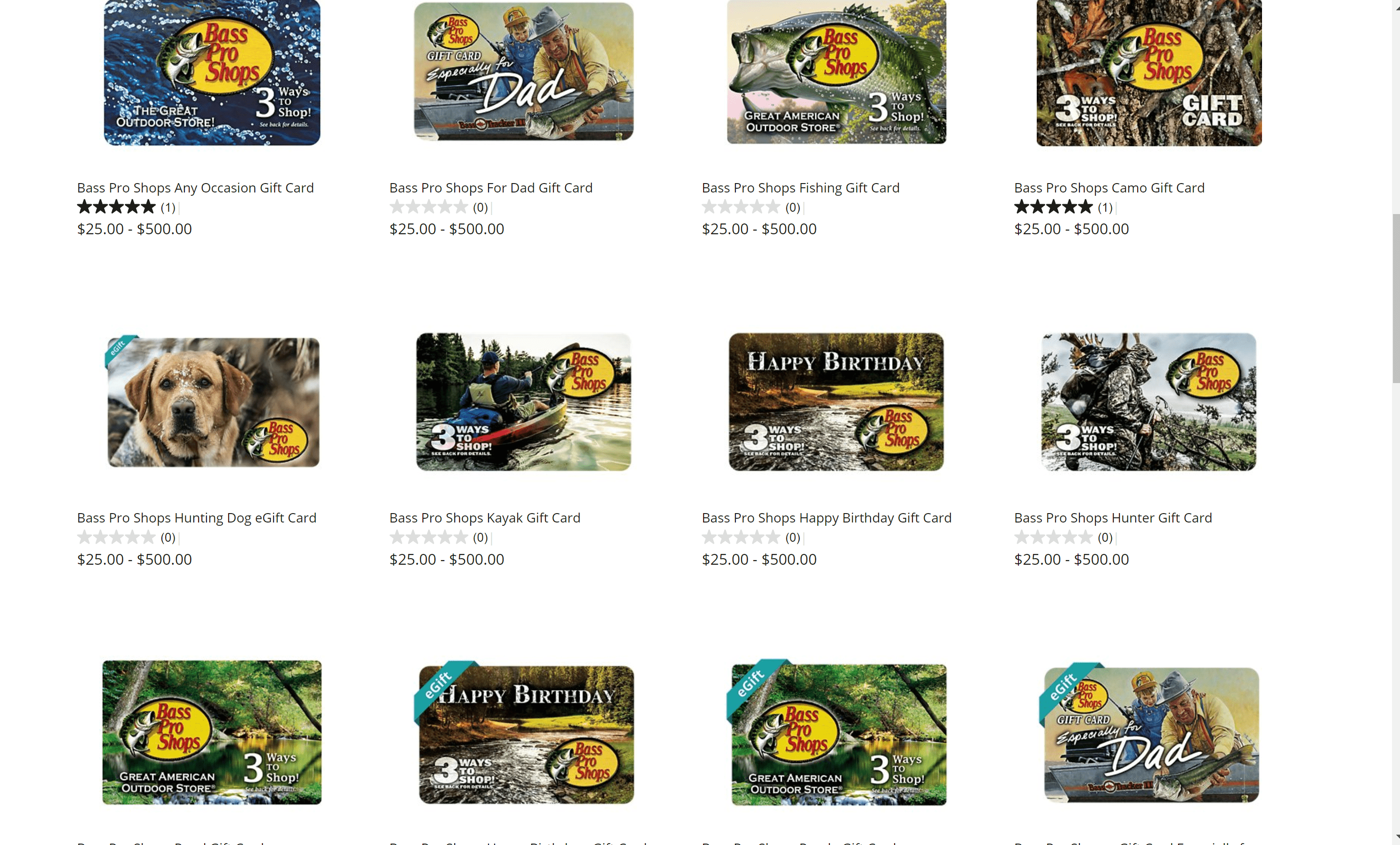 bass Pro Shops products for hunting