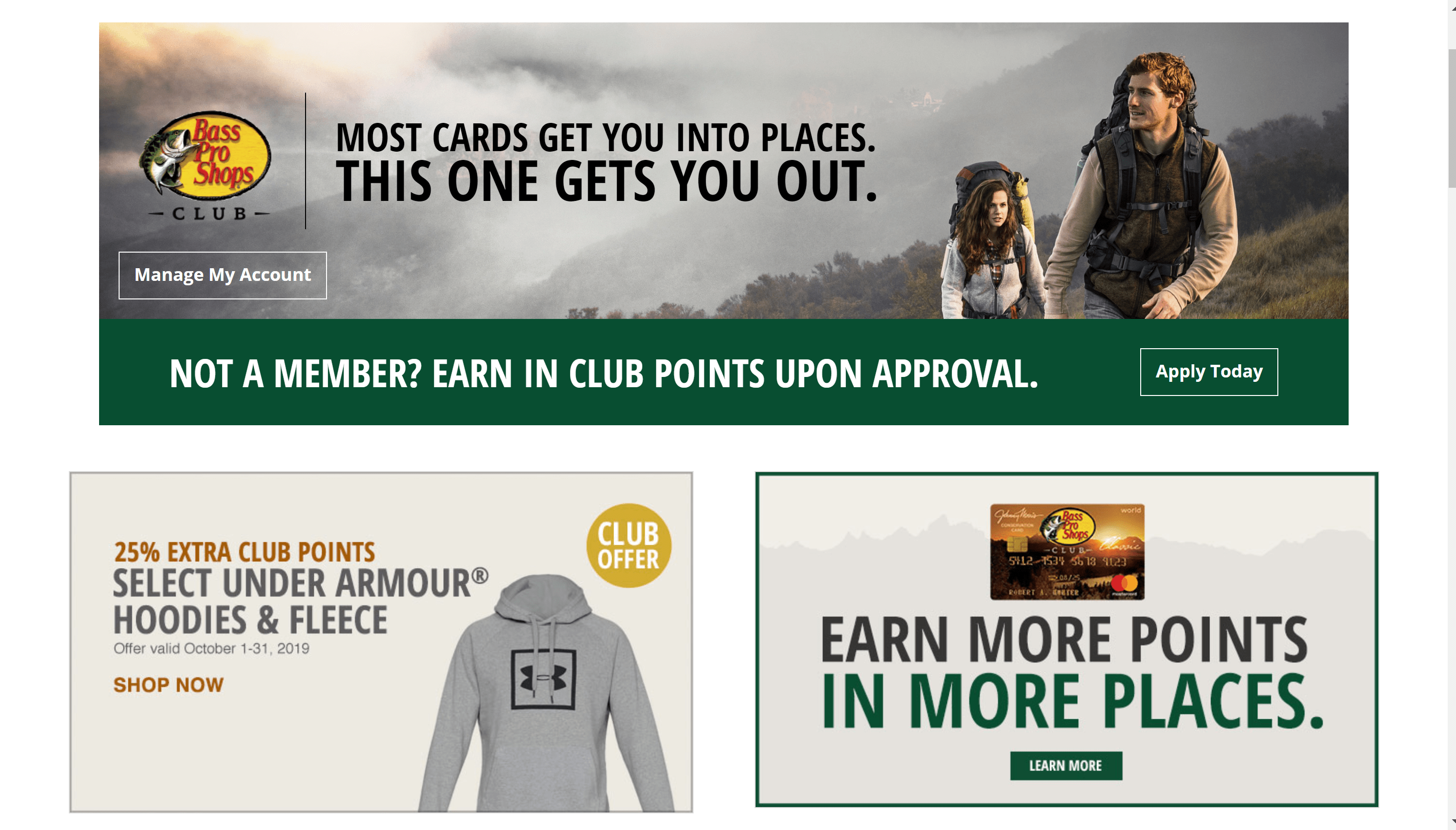 bass pro shops club member