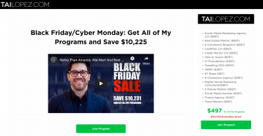 Tai lopez black friday sales