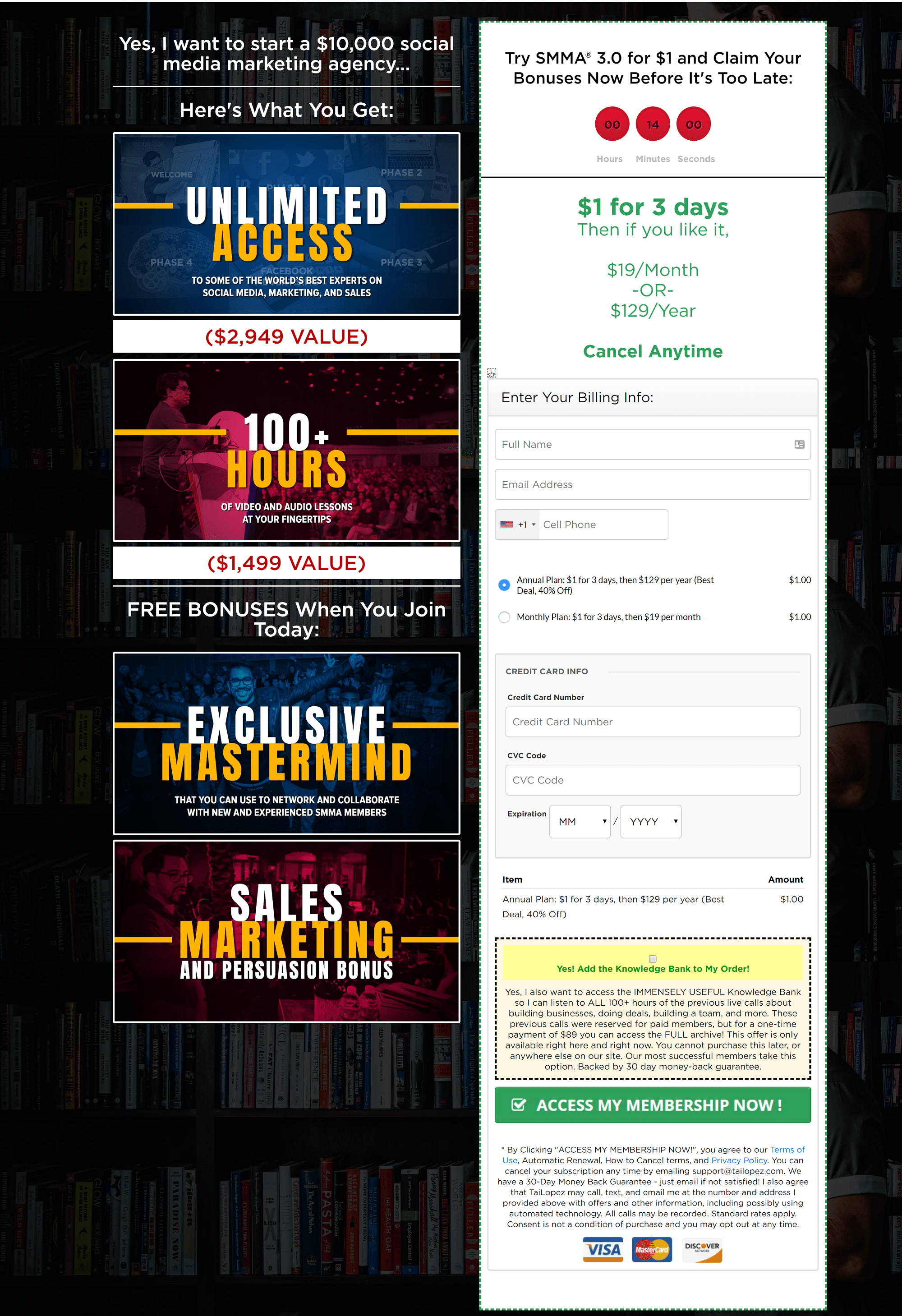 TaiLopez smma courses - Try SMMA 3.0