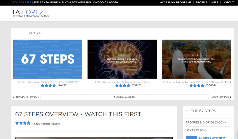67 Steps Program Review