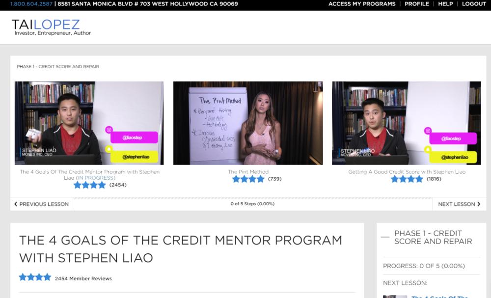 Credit Mentor Program Review
