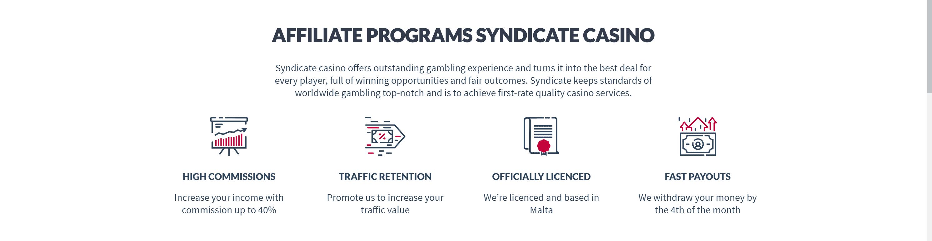 Syndicate Casino revenues