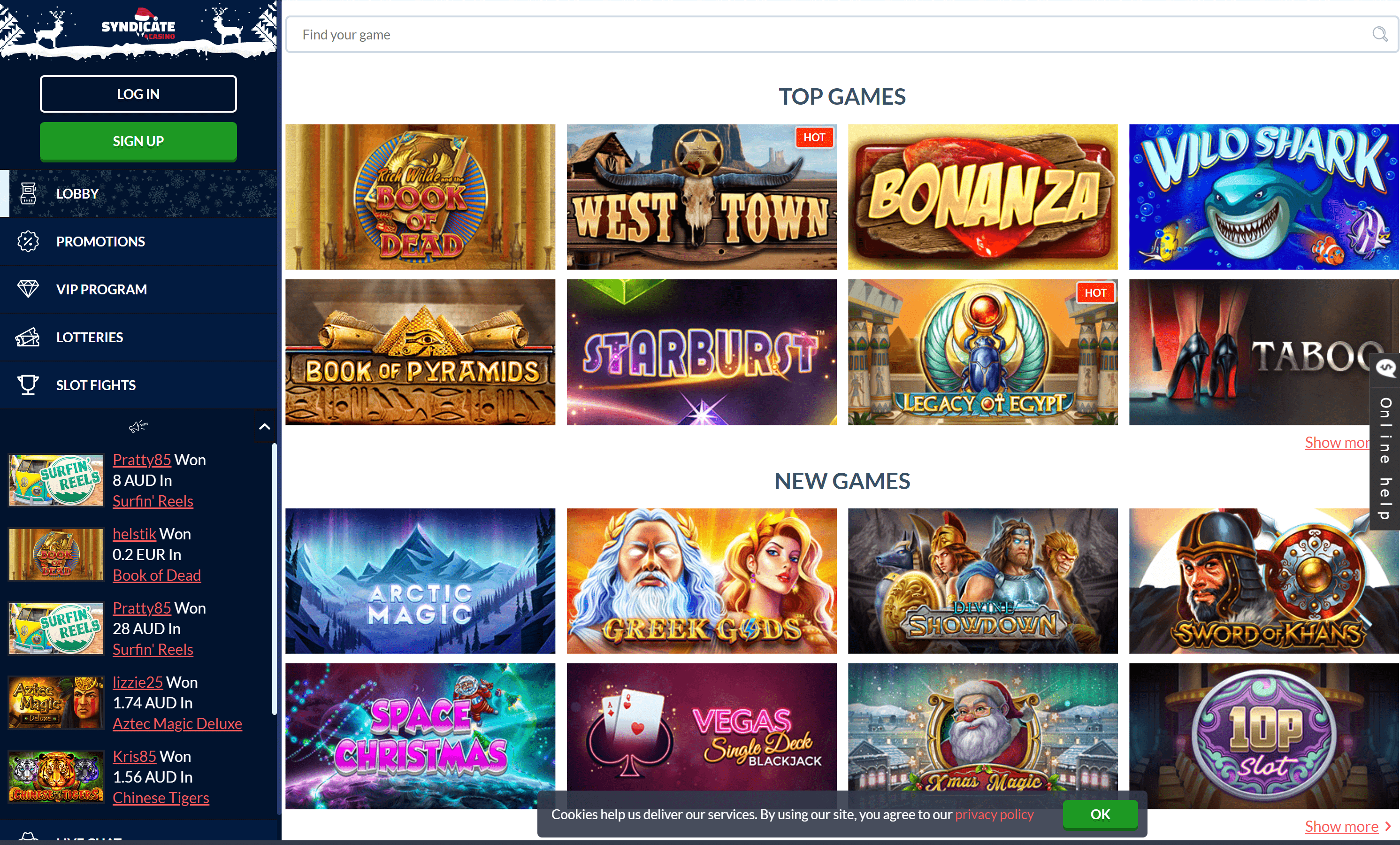 Syndicate casino games