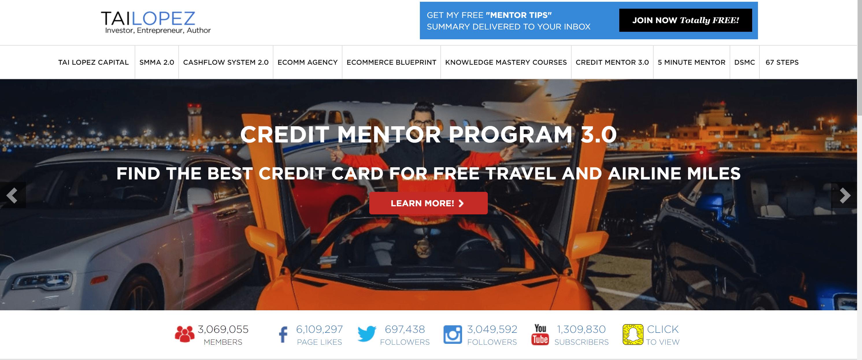 Tai Lopez Review - Credit mentor program 3.0