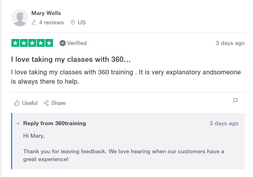 360Training User Testimonial