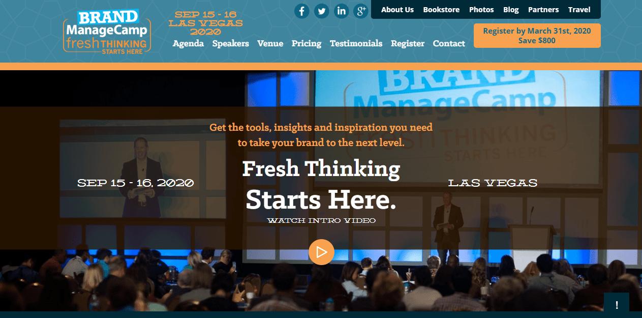 Brand ManageCamp Marketing Conference 2020