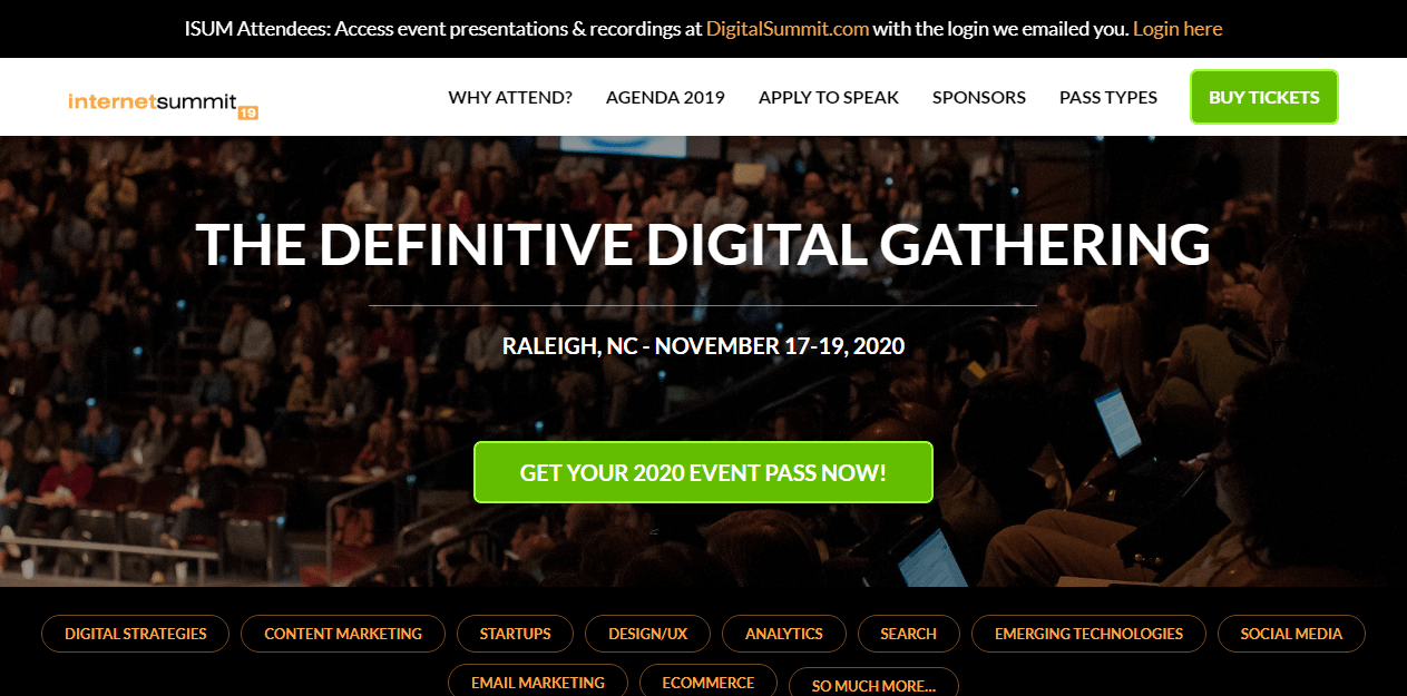 Digital Marketing Conference - Internet Summit