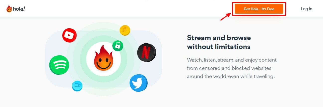 Hola Free VPN - unlimited streaming