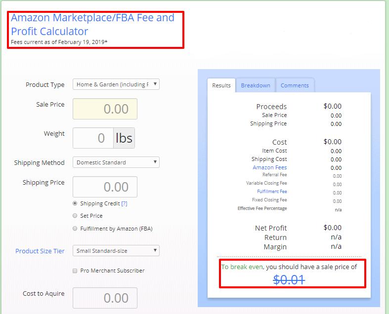 Amazon - Calculator - Salecalc
