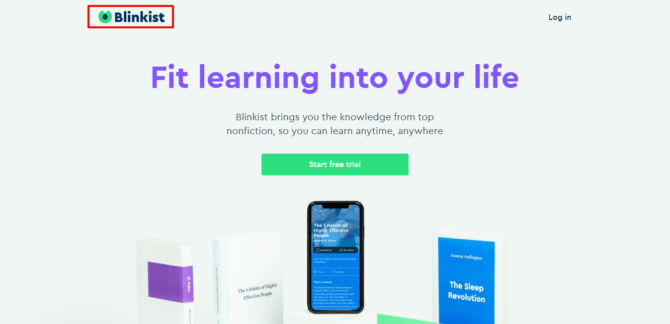 Blinkist Big ideas in small packages