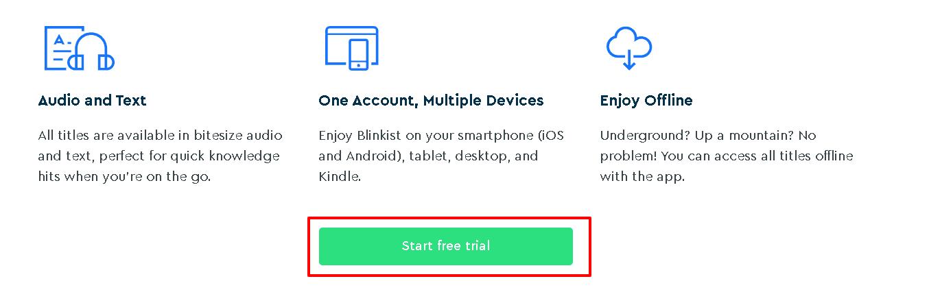 Key Features Of Blinkist