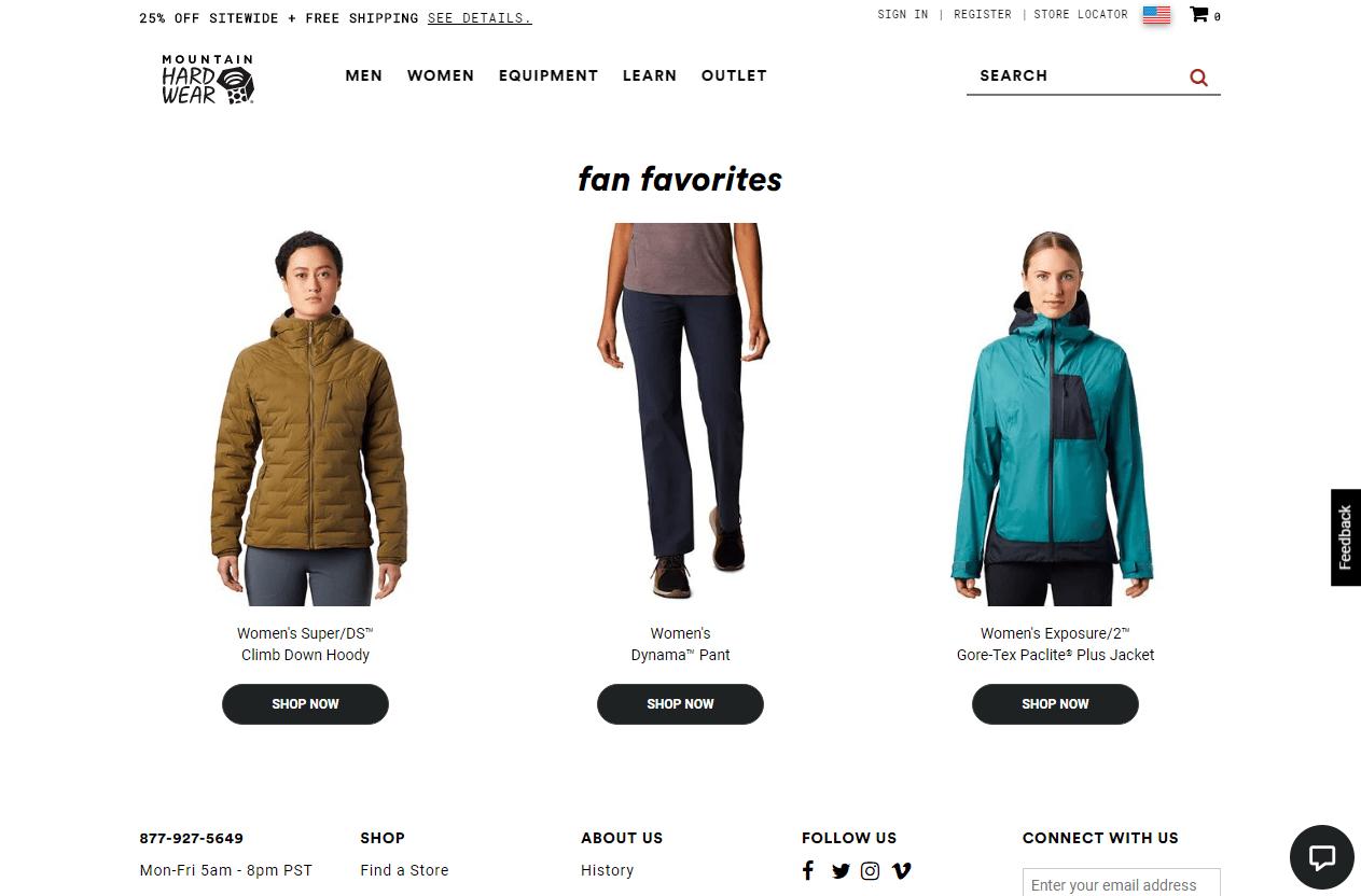 Mountain Hardwear Promotional Codes- Fan Favorites